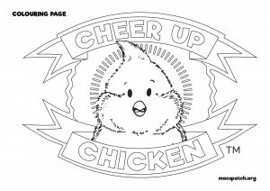 Cheer Up Chicken Badge